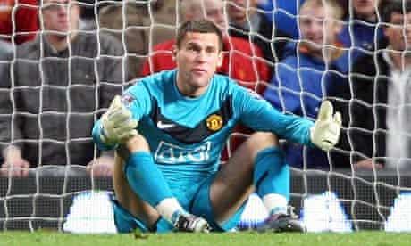 Ben Foster of Manchester United, against Sunderland
