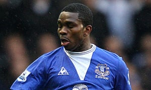 Joseph Yobo was taken off during Everton's defeat to Liverpool on Sunday