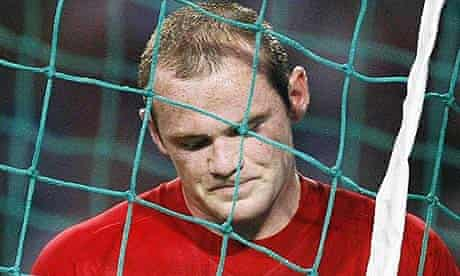 Wayne Rooney looking unhappy