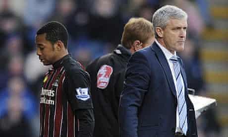 Robinho substitution - Portsmouth