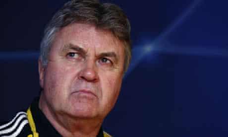 Chelsea caretaker coach Guus Hiddink