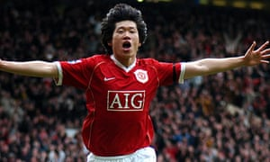 Manchester United s Park Ji-Sung celebrates scoring against Bolton at Old  Trafford. Photograph  Neal Simpson EMPICS Sport PA Photos b6ac4b2b77157