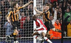 Arsenal's William Gallas scores