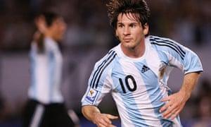 Lionel Messi of Argentina celebrates
