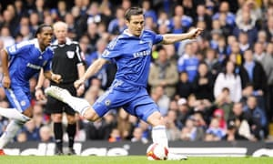 Frank Lampard scores for Chelsea against Bolton at Stamford Bridge.
