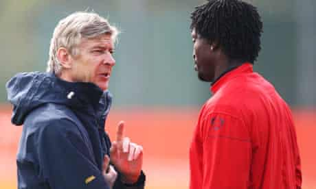 Emmanuel Adebayor, Arsene Wenger