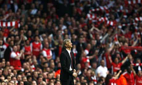 Arsenal manager Arsene Wenger against Villarreal in their Champions League quarter-final
