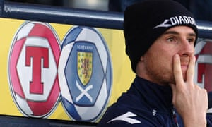 Scotland's Barry Ferguson makes his feelings clear during the World Cup qualifier against Iceland