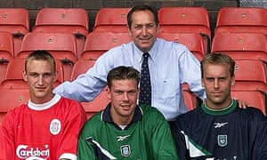 Sammi Hyypia with Gérard Houllier on signing for Liverpool