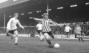 Sheffield United's Tony Currie, one half of football's first kiss