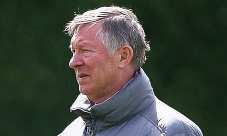 Sir Alex Ferguson at Manchester United training