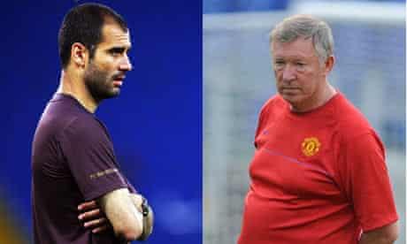Josep Guardiola and Sir Alex Ferguson