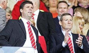Ellis Short, Sunderland's owner, with Niall Quinn
