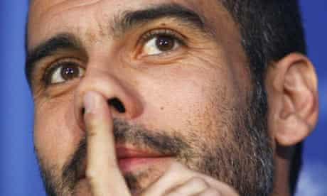 Pep Guardiola the Barcalona coach