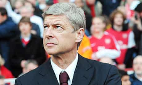 Arsenal manager Arsène Wenger during his team's 3-1 defeat to Manchester United