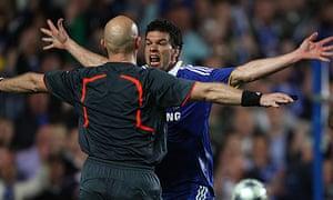 Michael Ballack Tom Henning Ovrebo Chelsea Barcelona