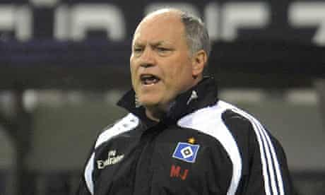 Hamburg's manager Martin Jol