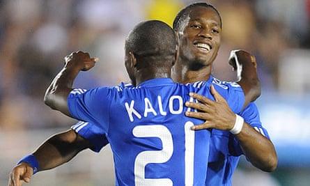 Didier Drogba and Saloman Kalouui