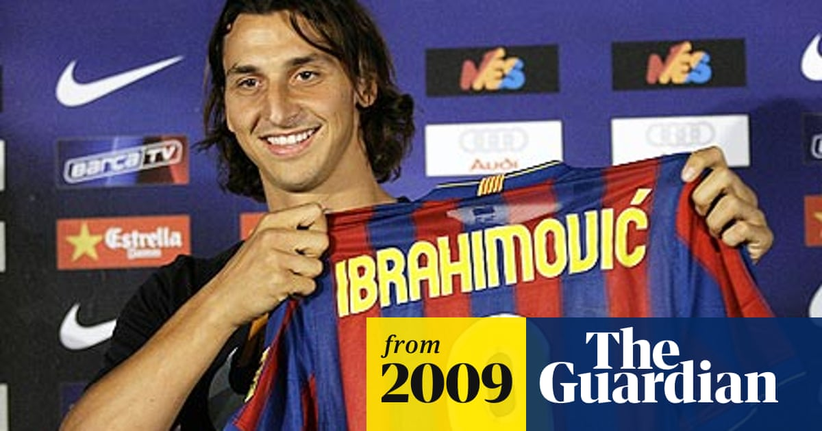 reputable site e14fa e6a87 Zlatan Ibrahimovic signs five-year deal at Barcelona ...