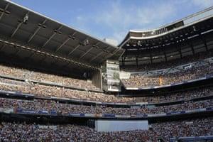 Cristiano Ronaldo: The stands were full before Cristiano Ronaldo reached the Santiago Bernabéu