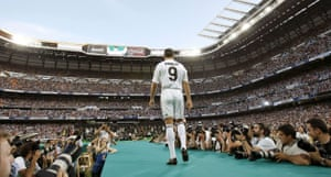 Cristiano Ronaldo: Cristiano Ronaldo heads towards the stage at his Real Madrid unveiling