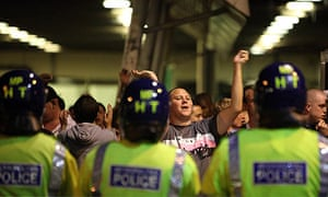 Police and West Ham fans