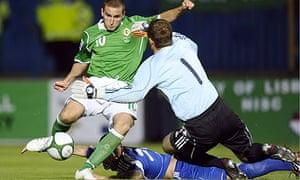 Martin Paterson is denied by Jan Mucha Northern Ireland Slovakia