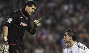 Gorka Iraizos and Cristiano Ronaldo