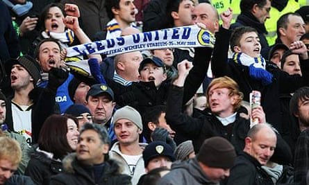 Leeds fans celebrate
