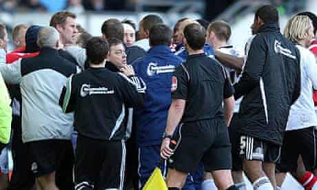 Derby County Nottingham Forest confrontation