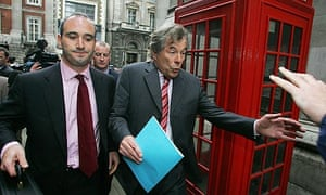 Martin Broughton, right, leaves the high court