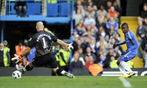 Chelsea's Salomon Kalou beats Wolves keeper Marcus Hahnemann to seal another win at Stamford Bridge.