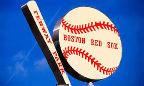 The bat and ball sign above the Fenway Park home of the Boston Red Sox