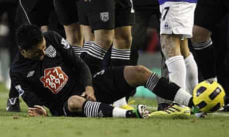 Premier League - Everton v West Bromwich Albion - Gonzalo Jara