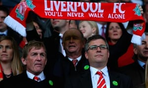Kenny Dalglish of Liverpool, left