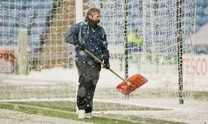 A Coventry groundsman at the Ricoh Arena