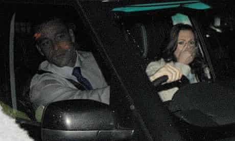 John Terry and wife Toni Poole leaving Stamford Bridge