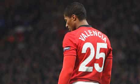 Antonio Valencia playing against AC Milan