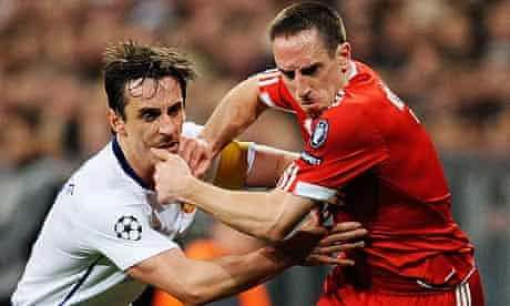 Gary Neville Franck Ribéry