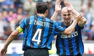 Javier Zanetti and Esteban Cambiasso