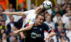 Kevin Davies of Bolton, right