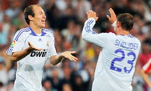 Arjen Robben and Wesley Sneijder at Real Madrid