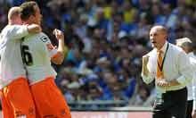 Ian Holloway celebrates Charlie Adam's goal