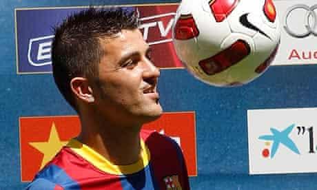 Barcelona's new player David Villa