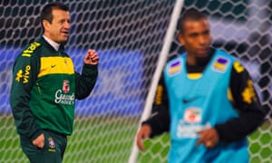 Dunga, Brazil coach, left