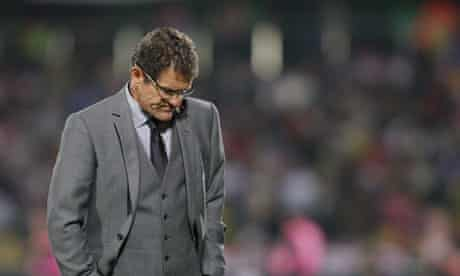 Fabio Capello looked as vulnerable as any of his England predecessors on a sobering night