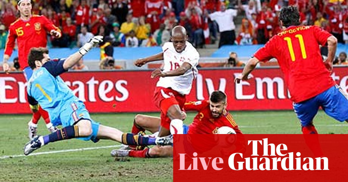 435f7724371b World Cup 2010: Spain v Switzerland - as it happened | Rob Smyth ...