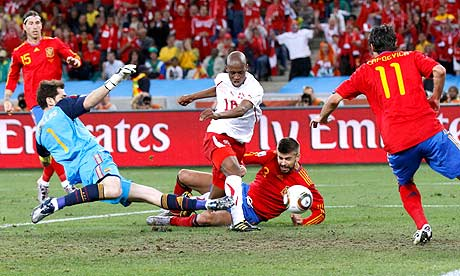 World Cup 2010 Spain V Switzerland As It Happened Rob Smyth Football The Guardian