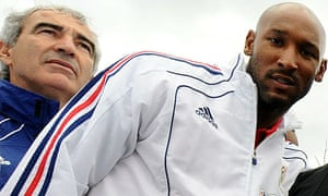 Raymond Domenech and Nicolas Anelka