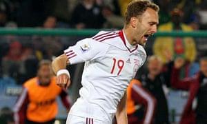 Cameroon v Denmark, Dennis Rommedahl celebrates